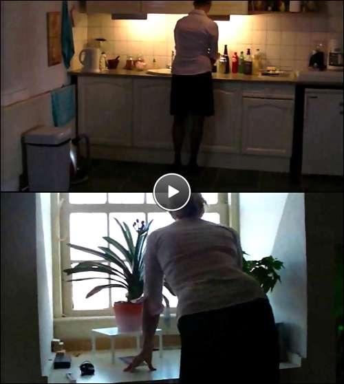 old lady masturbation video